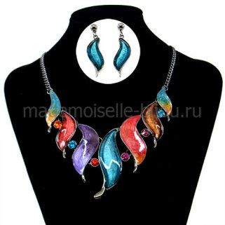 Ожерелье и серьги комплектSirena