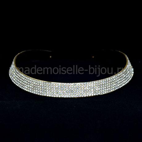 Металлическое ожерелье из страз Elegante Princess