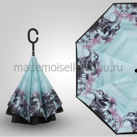 Зонт обратного сложения Up Brella Seasons Sakura