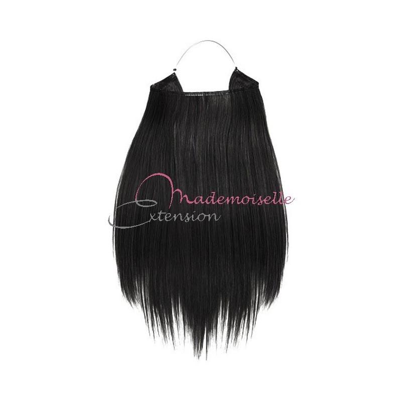extension cheveux naturel a enfiler n 1 lisse noir