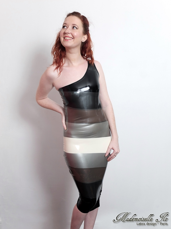 Mademoiselle Ilo  Vespa dress latex rubber paris france stylist