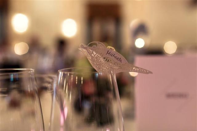 Namensschild Vogel Vintage Hochzeit Casino Zug