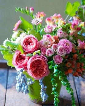 Englische Rosen Tischdeko Hochzeit Inspiration Herbst Pink