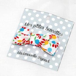 Mes petites barrettes de Mademoiselle Bigoudi/ pince crocodile Liberty fleurs