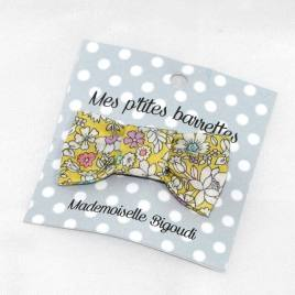 Mes petites barrettes de Mademoiselle Bigoudi/ pince crocodile fleurs jaune