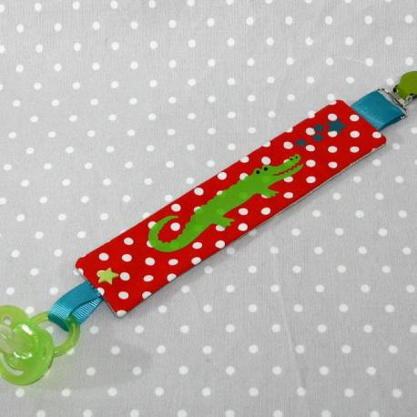 Clip attache bavette/serviette/doudou thème grenouille