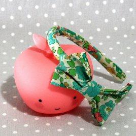 serre-tête petit nœud/accessoire enfant Liberty Betsy Turquoise