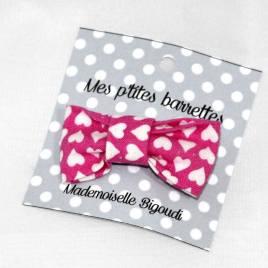Mes petites barrettes de Mademoiselle Bigoudi/ pince crocodile cœurs roses