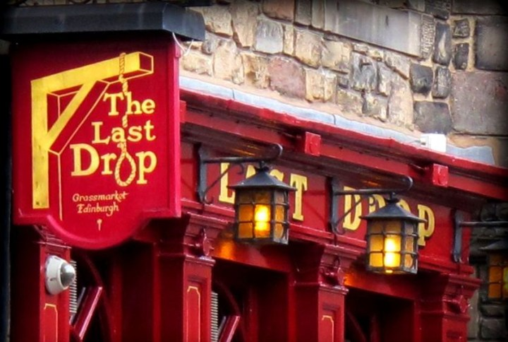The Last Drop Pub Edinburgh Scotland
