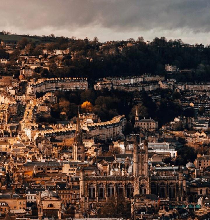 Vista della città di Bath