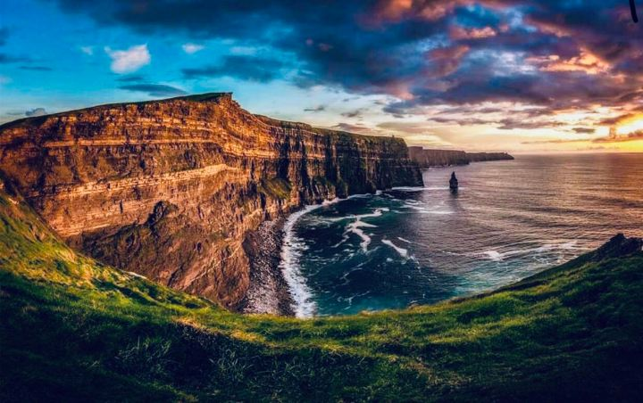 The Cliff of Moher al tramonto
