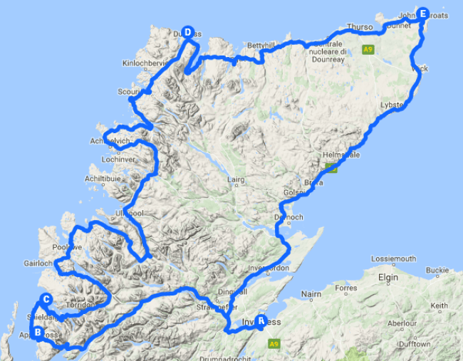 north-coast-500-interactive-map