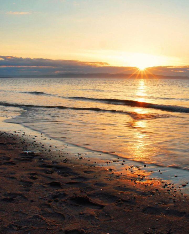 Nairn, Scozia - West beach al tramonto