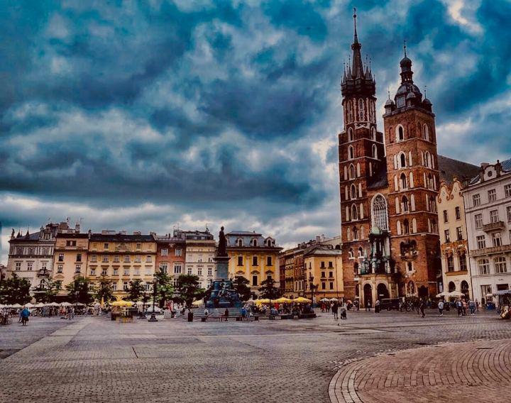 Cracovia, Stare Miasto e la Basilica di Santa Maria nella Piazza del Mercato