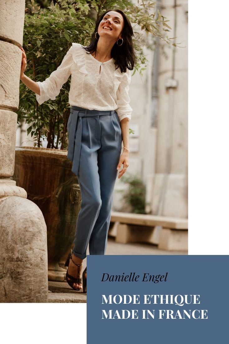 Vêtements made in France Danielle Engel, marque de mode éthique à Montpellier, présentés par Mademoiselle Coccinelle, blogueuse mode responsable