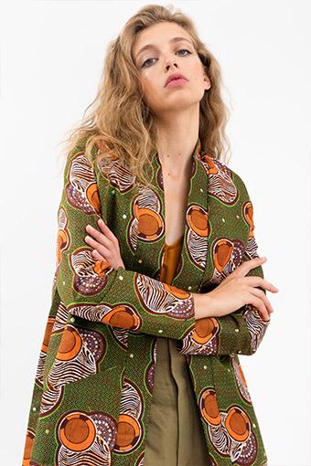 Gilet kimono wax