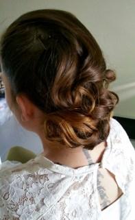 Vintage hair chignon mariage