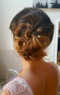 boho hair chignon mariage bohème