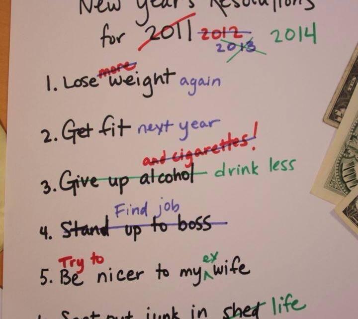 Fuck les bonnes résolutions!