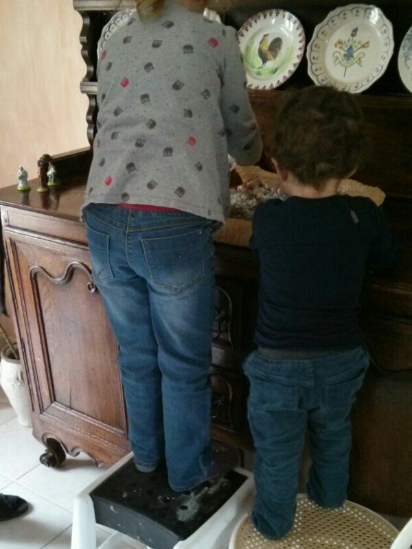 crèche de Noël DIY