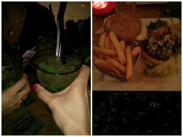 mojito et hamburger