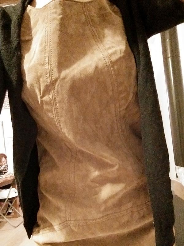 robe croute de cuir pas chère