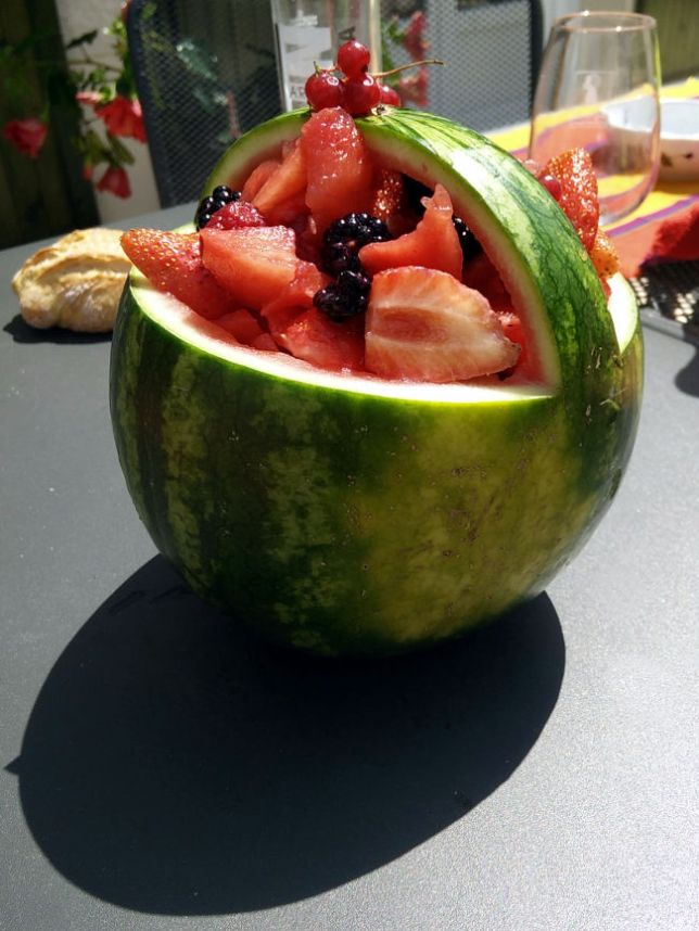 présentation salade de fruits