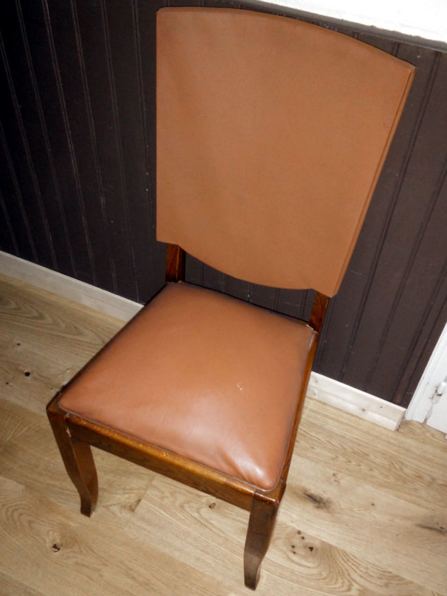 chaise vintage moche