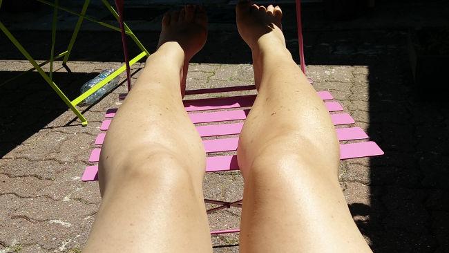 jambes bronzées