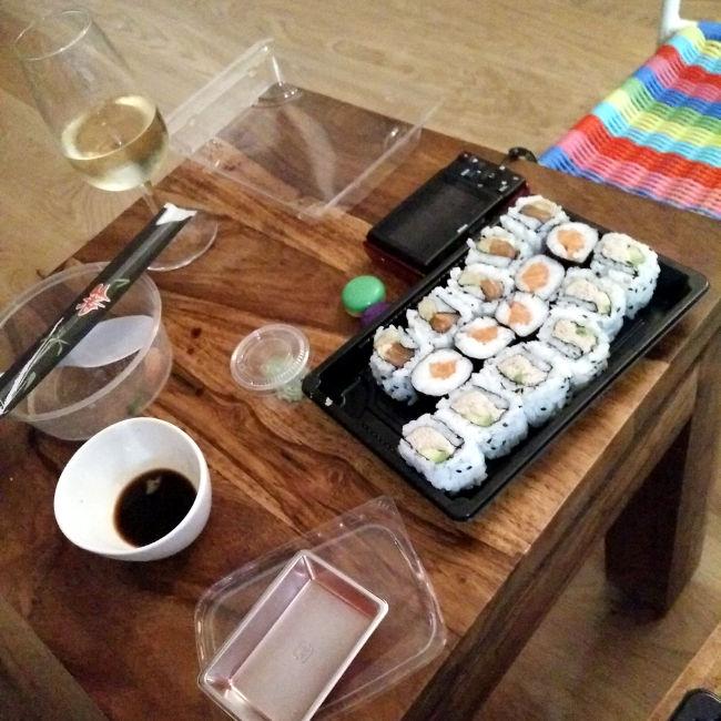 sushis d'anniversaire