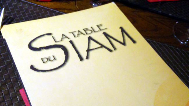 la table du Siam Lille