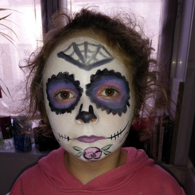 maquillage calavera enfant
