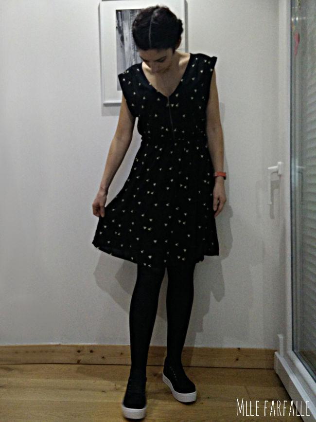 Robe courte sans manches imprimée