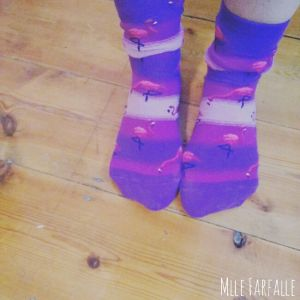 chaussettes flamands roses