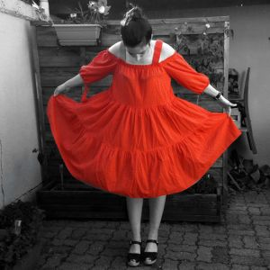robe h&m rouge