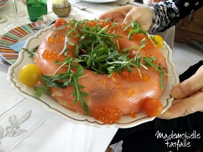 recette couronne de saumon