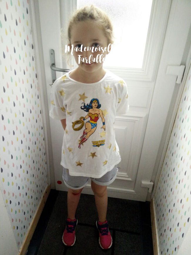 t-shirt fille Wonderwoman