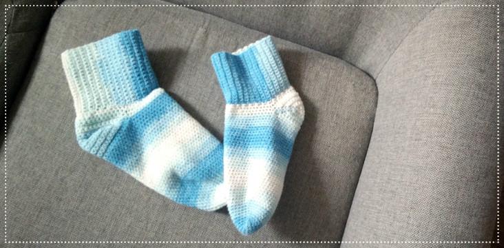 tuto de chaussettes au crochet