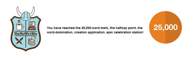 25000 mots Nanowrimo