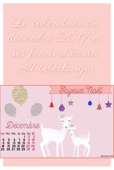 calendrier de décembre 2017 à télécharger