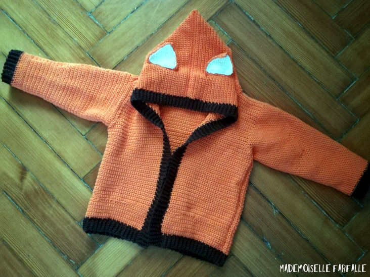 gilet renard au crochet