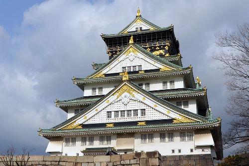 château d'osaka , château , osaka , japon