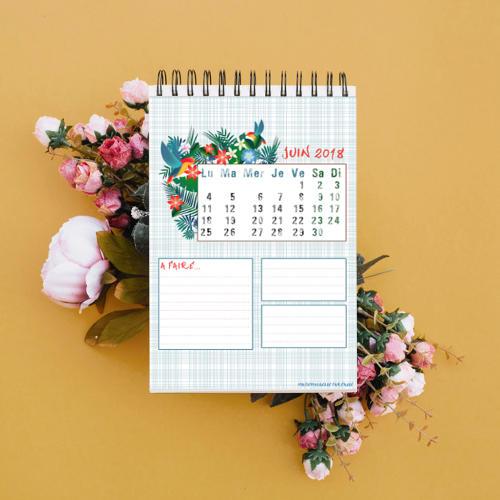 calendrier de juin 2018 à télécharger
