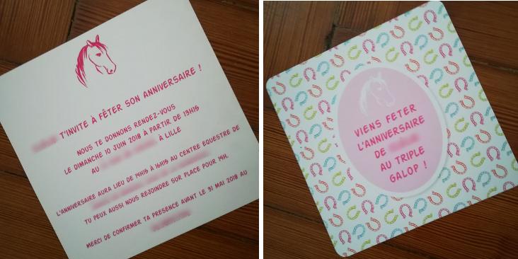 invitations cheval anniversaire