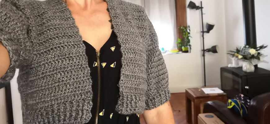[Crochet] Le gilet court par Hooked on homemade happiness + patron traduit
