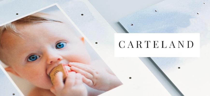 Un joli faire-part de naissance avec Carteland