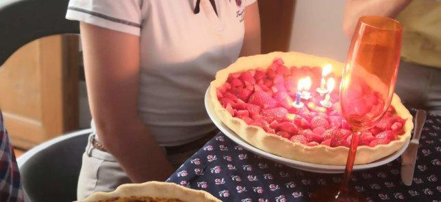 tarte aux fraises d'anniversaire