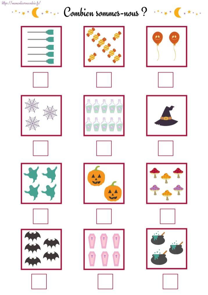 Apprendre à compter Halloween