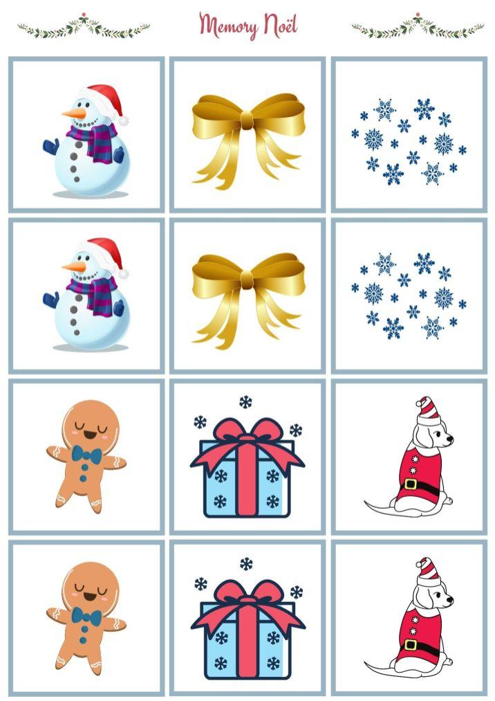 Memory de Noël enfant