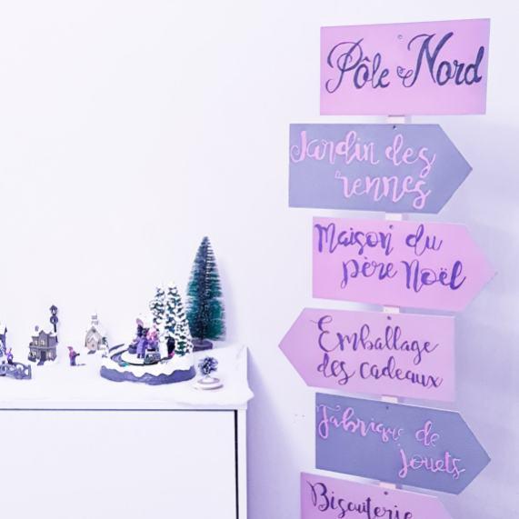 DIY panneau directionnel de Noël